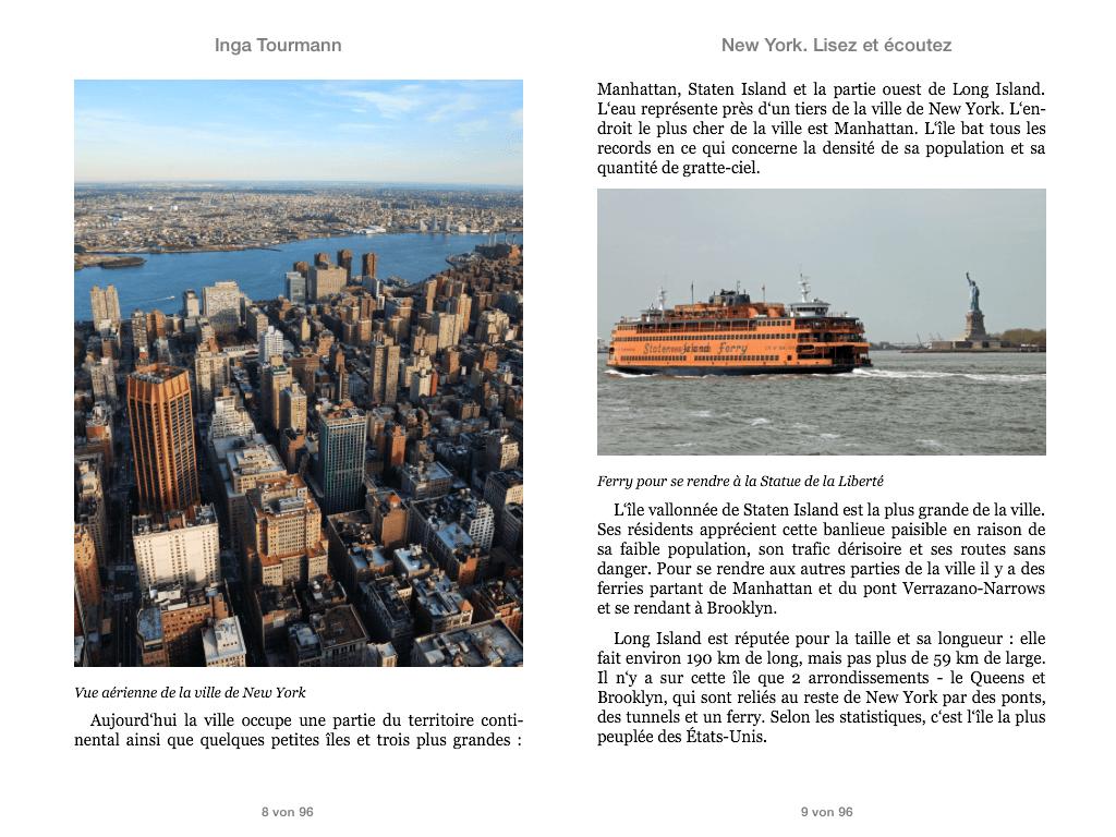 New York. Lisez et écoutez