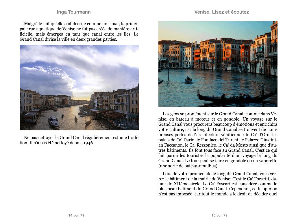 Venise. Lisez et écoutez