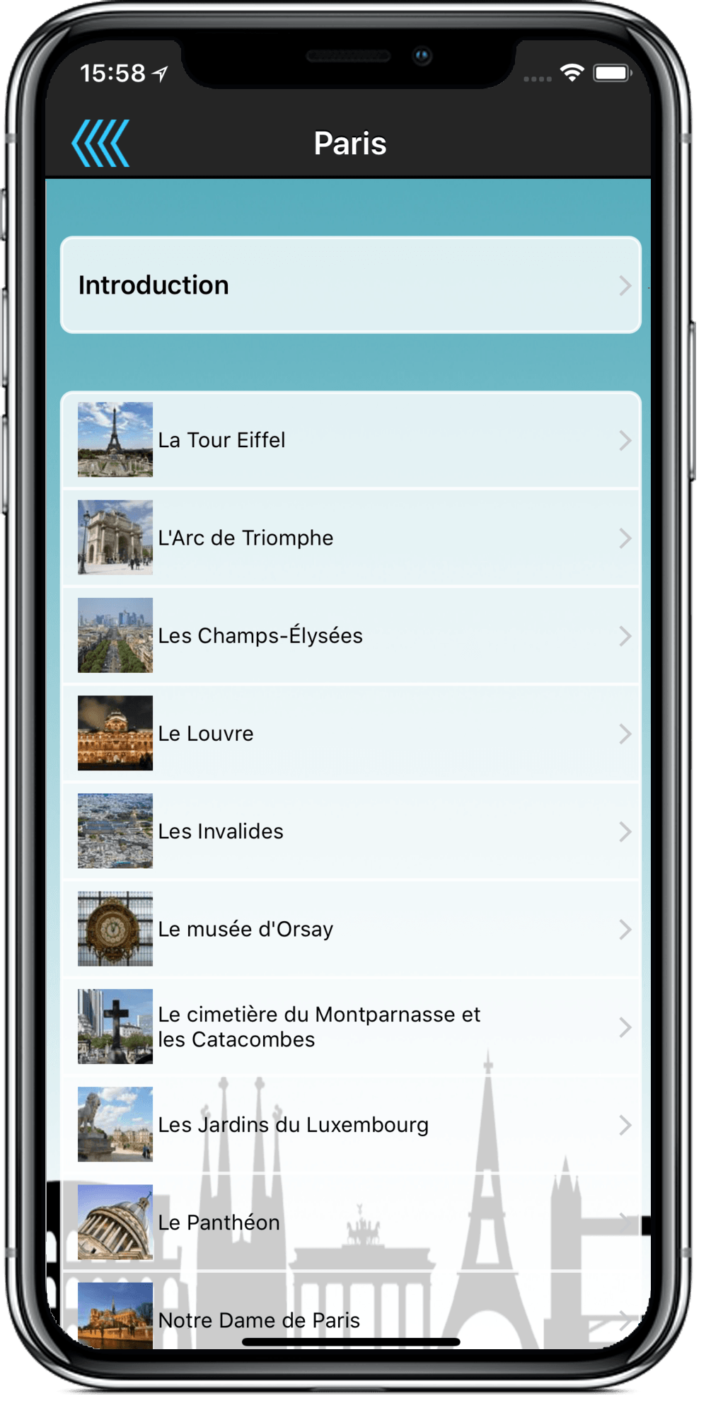 Audio guides touristique